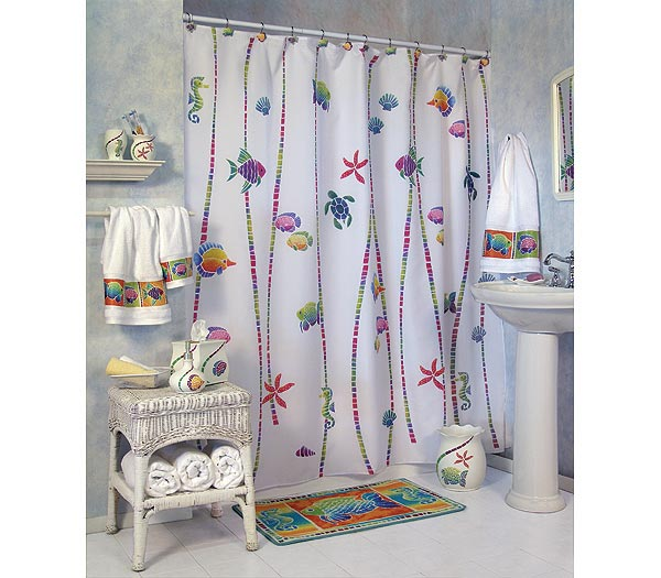 Fish Fantasy Shower Curtain And Bath Accessories