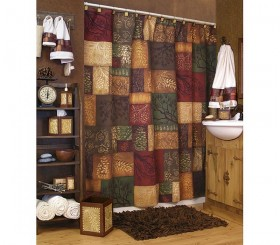 Adirondack Pine Shower Curtain And Bath Accessories
